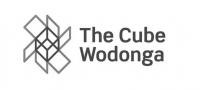 The Cube Wodonga logo B&W