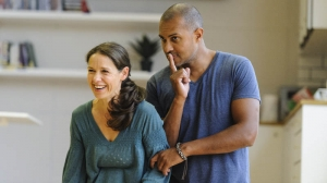 Kate Atkinson and Bert LaBonté in rehearsals