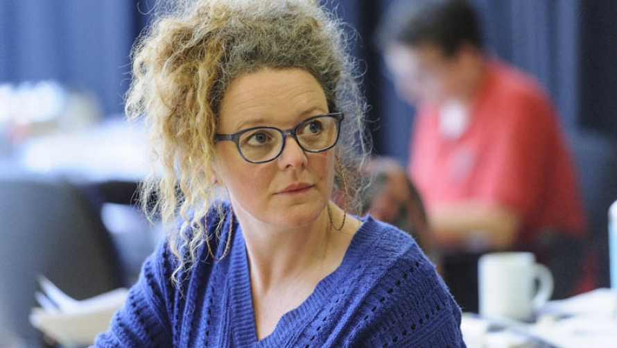 Director Clare Watson in rehearsals