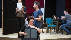 Nadine Garner, Ben Prendergast, Katrina Milosevic and Nathan Page in rehearsals