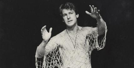 John Walton as Hamlet in MTC's 1980 production. Photo by David Parker.