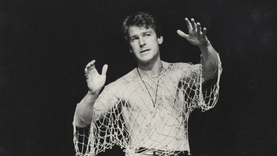 John Walton as Hamlet in MTC's 1980 production. Photo by David Parker.