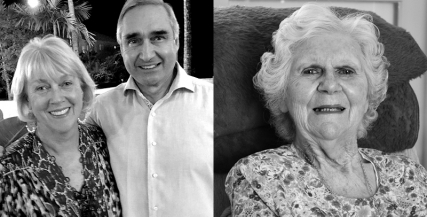 Caroline Young, Derek Young AM, and Biddy Ponsford