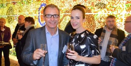 Andrew Buchanan and Claire van der Boom
