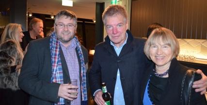 Warwick Eddington, Colin Frield and Alix Bradfield