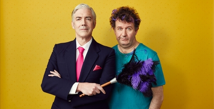 Shaun Micallef and Francis Greenslade in The Odd Couple