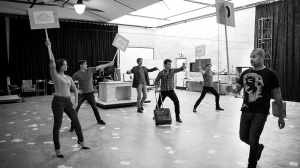 The Rupert cast in rehearsals