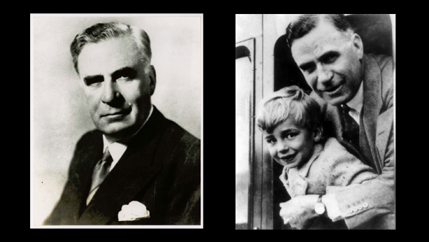 Keith Murdoch, and Keith with son Rupert