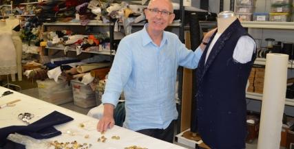 John Molloy in MTC's Wardrobe Department