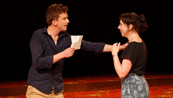 Leon Ford and Alison Bell in Constellations