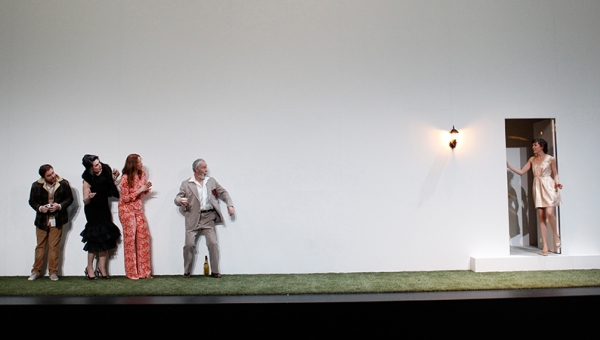 Toby Truslove, Pamela Rabe, Katherine Tonkin, Roger Oakley and Eloise Mignon in The Cherry Orchard