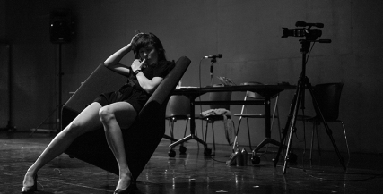 Eloise Mignon in rehearsals for Complexity of Belonging. Photo: Sarah Walker