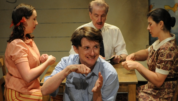 Alison Bell, Matthew Whittet, Peter Carroll and Claire Jones in The Book of Everything