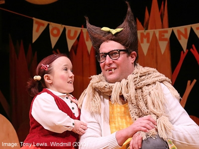Emma Hawkins and Patrick Graham in 'Big Bad Wolf'