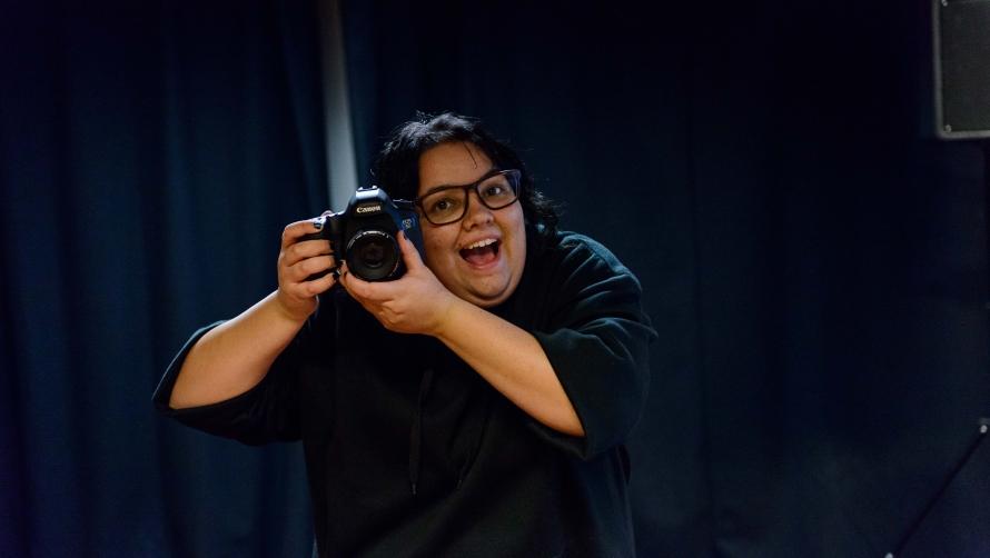 Jacinta with Camera