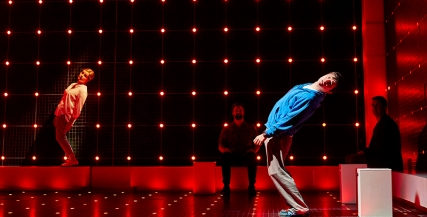 Julie Hale (Siobhan) and Joshua Jenkins (Christopher Boone) Curious Incident International Tour. Photo by BrinkhoffMögenburg