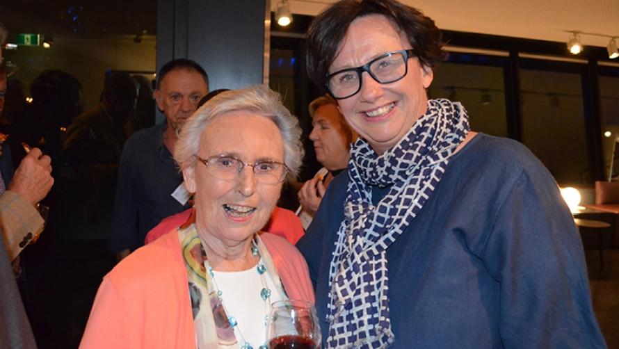 Pat Burke and Virginia Lovett