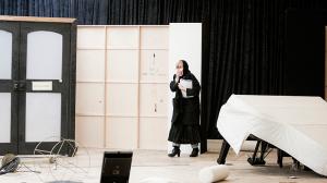 Julie Forsyth in rehearsal