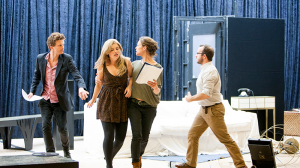 Leon Ford, Lucy Durack, Nadine Garner and John Leary in rehearsal