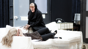 Lucy Durack and Julie Forsyth in rehearsal