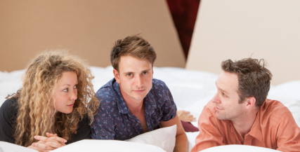 Sophie Ross, Tom Conroy and Angus Grant in 'Cock'