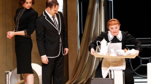 Nadine Garner, John Leary and Julie Forsyth in 'Private Lives'