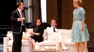 John Leary, Nadine Garner, Leon Ford and Lucy Durack in 'Private Lives'