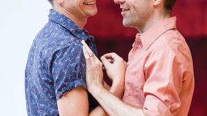 Tom Conroy and Angus Grant in rehearsal