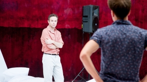 Angus Grant and Tom Conroy in rehearsal