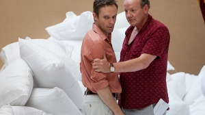 Angus Grant and Tony Rickards in rehearsal