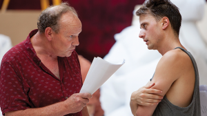 Tony Rickards and Tom Conroy in rehearsal