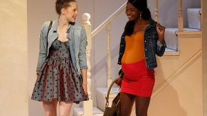 Brenna Harding and Tariro Mavondo in Jumpy