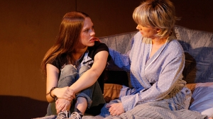 Brenna Harding and Jane Turner in Jumpy