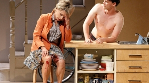 Jane Turner and Dylan Watson in Jumpy