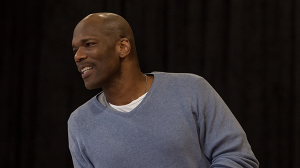 Chris Kirby in rehearsals for The Speechmaker at MTC