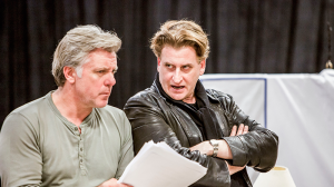 Erik Thomson and Lachy Hulme in rehearsals for The Speechmaker at MTC
