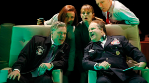 Erik Thomson, Jane Harber, Kat Stewart, David James and Nicholas Bell in The Speechmaker (MTC 2014)