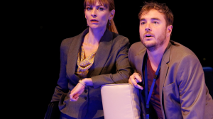 Kat Stewart and Toby Truslove in The Speechmaker (MTC 2014)