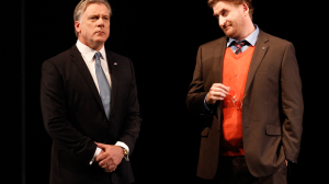 Erik Thomson and Lachy Hulme in The Speechmaker (MTC 2014)
