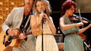 Tim Rogers, Sophie Ross and Xani Kolac in What Rhymes with Cars and Girls