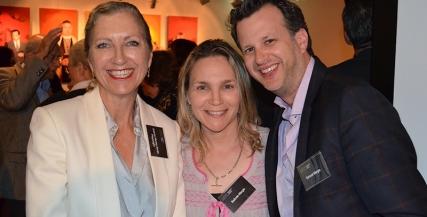 Joanna Murray-Smith, Belinda Margis and Samuel Margis at the Pennsylvania Avenue Donor Event