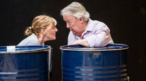 Julie Forsyth and Rhys McConnochie in rehearsals