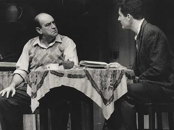 Peter Cummins (Alf) and William Brandt (Hughie) in MTC's 1986 production of The One Day of the Year