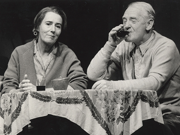 Maggie Blinco (Dot) and Edward Hepple (Wacka) in MTC's 1986 production of The One Day of the Year