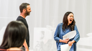 Brett Cousins and Sophie Ross in rehearsal