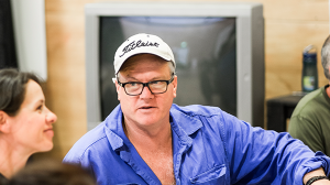 William McInnes in rehearsal