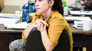 Playwright Kylie Trounson in rehearsal