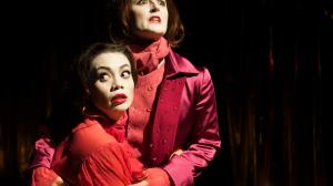 (L-R) AZOLAN/EMILIE (Catherine Davies), VALMONT Janine Watson