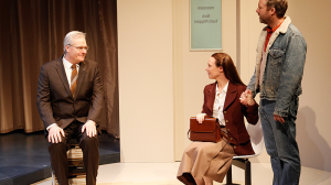 William McInnes, Belinda McClory and Brett Cousins in The Waiting Room at MTC