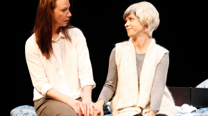 Belinda McClory and Kate Atkinson in The Waiting Room at MTC